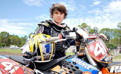 Jesse Dobson will feature in this weekend's motocross action at Coolum.