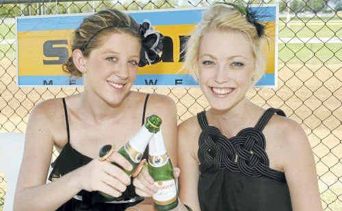Enjoying the phantom races at Bundaberg were Katie Grissell and Elizabeth Schmeider.