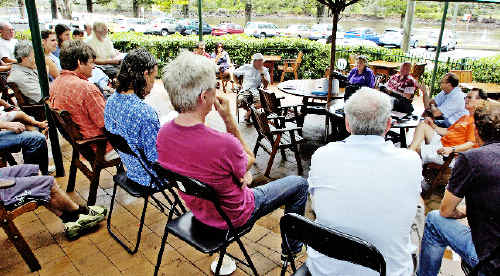 Despite recent difficulties, the general outlook was positive when green assessors gathered at the Brunswick Hotel yesterday to discuss the issues.