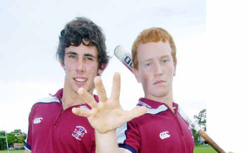Sam Daff and Lyam McKay have been selected in the Australian under-19 softball squad.