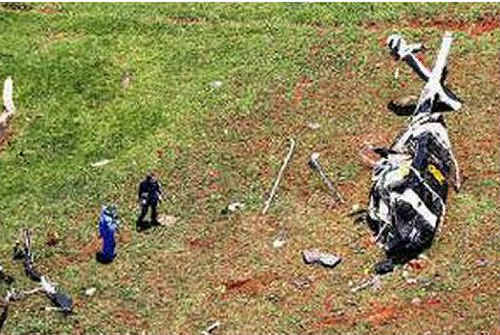 Scene from the crash site at the Dorrigo Plateau where Aaron Harber, 41, was killed in the tragic helicopter accident.