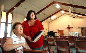 Ordained pastors Gwen Lewis and Marian Kent at the Church of Nazarene in Neptune Street, Maryborough.