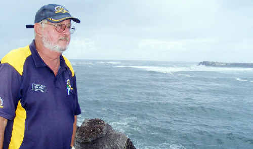 Norm Lannoy, Commander of the Ballina flotilla of the Australian Volunteer Coast Guard, is urging boaties to heed the advice of coast guard volunteers before crossing the treacherous Ballina bar after two incidents on the bar last week.