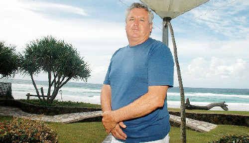 Belongil Beach resident John Vaughn, who won a landmark legal case against Byron Shire Council over beach erosion works.