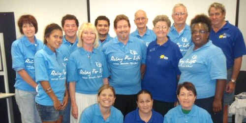 Mackay Relay for Life Committee are (from left) Marie Cameron, Cale Hutchins, Jordan Woods, Barry Downs, Keith Andrew, Kevin Neilsen, Kaitlyn Woods, Maryanne Cannon, Chris Bekkeli, Daphne Neilsen, Stephanie Fatnowna, Fiona Kruger, Bronwyn Morris and Jenny Burgess.