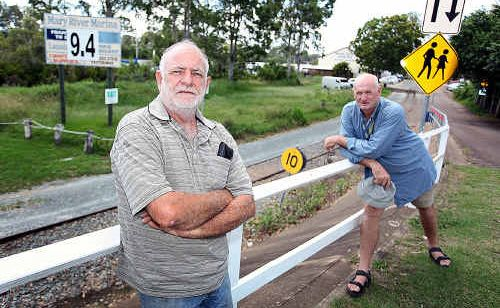 Mary River Marina owner Neville Foord, with project consultant Raymond Rampling, are working on a petition to parliament.