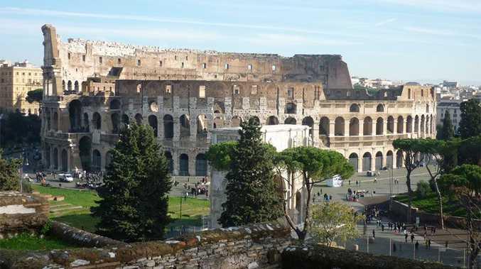 The Colosseum in Rome.