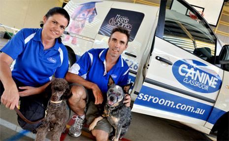 Lisa Stewart with David Haywood who has opened a dog training school.