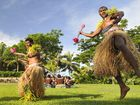 Traditional dancers in Fiji.