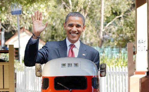 Maybe after President Obama visits the Gunnawannabe Aboriginal cafe and gallery in South Lismore he could stop off at Lismore's Heritage Park for a train ride.
