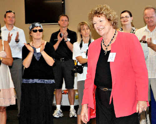 Shadow Minister for Health Jillian Skinner officially opens Park Beach Plaza's Family Medical Practice yesterday as part of a whirlwind trip to Coffs Harbour.
