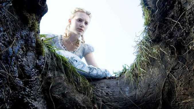 Mia Wasikowska in Alice in Wonderland.