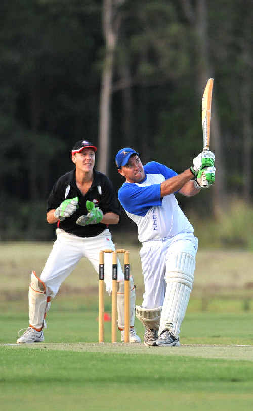 Chris Neal hits out in Wednesday night's Twenty20 final.