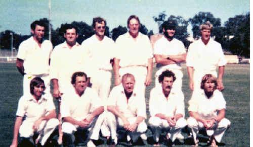 Coffs Harbour's winning inter-district team from the summer of 1980-81: back (l-r) R.Alford, N.Haworth, T.Mellefont, L.Brown, B.Ebbeling, T.Herbert; front (l-r) M.Herbert, R.Haworth, R.Kratz (capt.), P.Brennan, N.Matten.