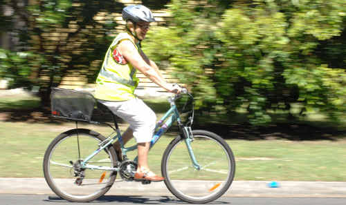 Sue Schmolke says cyclists would love to see a cycle path between Yamba and Maclean.