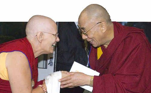 Choeying Dolma meets with the Dalai Lama, who has been an inspiration to her.