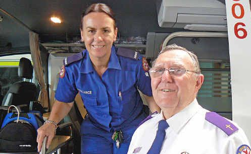 NSW Ambulance Service paramedic Sharon Cox and deacon Graeme Davis are looking forward to the Thanksgiving Service for emergency service personnel in Lismore this weekend.