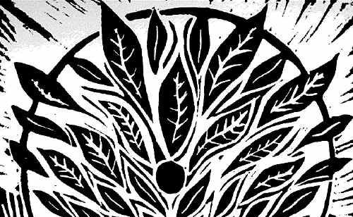 This lino cut by Anna Jackowiak-Hoare is part of an exhibiton opening this weekend in Drake.
