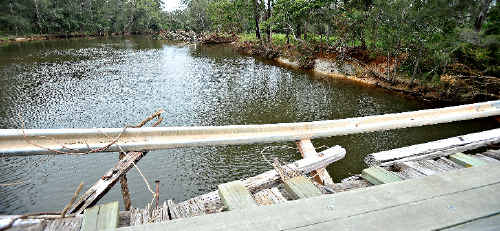 The State Government has refused to support the replacement of the Deep Creek bridge at Valla.