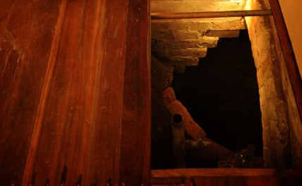 The seven metre well uncovered under the Walkers Marina Hotel's dining room.