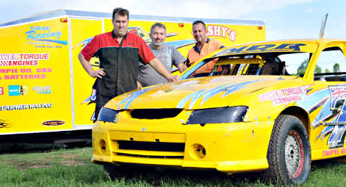 GYMPIE speedway drivers Todd Doyle, Brian Learoyd and Gavin Lorensen are itching to hit the track tonight for the Exide Batteries Nambour Modified Production Series 30/30 feature. The event is a first for Gympie speedway.