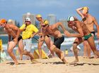 Lifesavers in sprint to become fastest man on sand