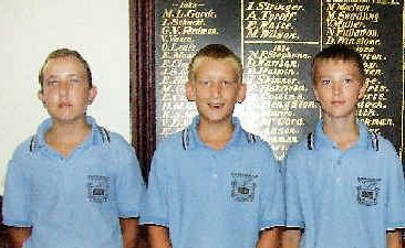 James Tennant, Nicholas Young, Jayden Zampech and Megan Kaufman, have started high school on a high note after being awarded scholarships by Maryborough High's P and C association.