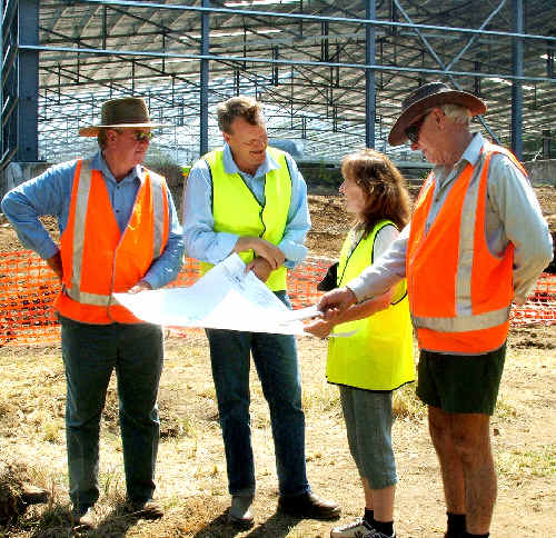 Councils throughout the State have improved their development application request times, according to a local government report. Last year Kyogle council approved the new Hurford's saw mill site with Page MP Janelle Saffin discussing the project with Andrew Hurford (centre).