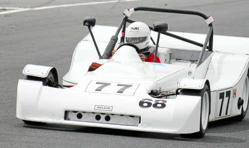 Warwick junior driver Matt Campbell tests his skill in John Wishart's Welsor Clubman at Morgan Park yesterday.