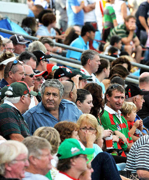 Over 5000 fans turned up to watch South Sydney take on the Gold Coast Titans on Saturday.