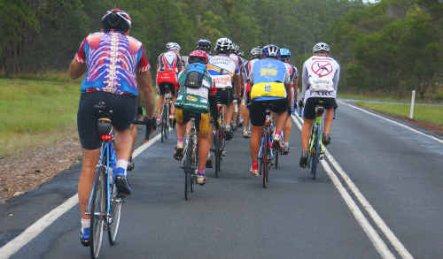 Riders showed courage to complete the 228km trek from Grafton to Inverell.