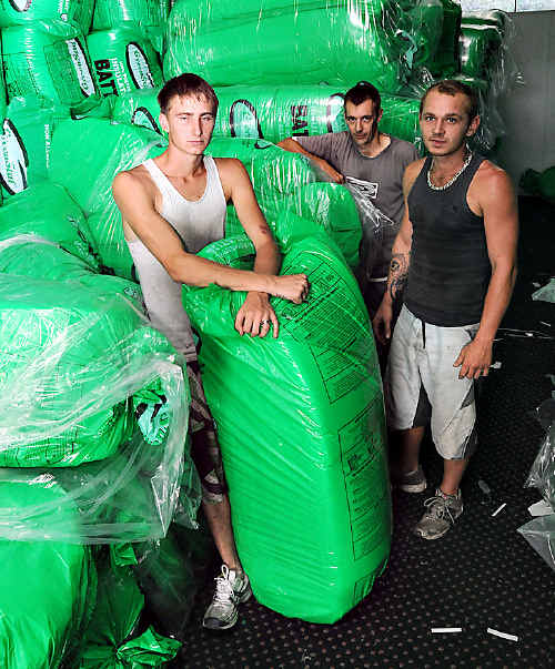 COOLOOLA Insulations installers Dan Higgins, Kevin Mercer and Peter Williams just completed their training, in time to lose their jobs.