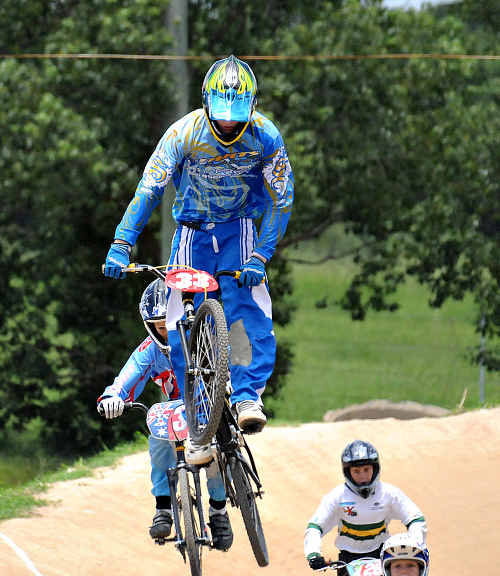 KYLE Borrensen flies high at Gympie at the weekend.