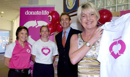 Recipient Louise Owens (right) was at Lismore Base Hospital to promote Organ Donation Awareness with (from left) donation co-ordinator Mary Campbell, LBH clinical champion Lisa Warne and organ and tissue donation director, Dr Michael Lindley-Jones.