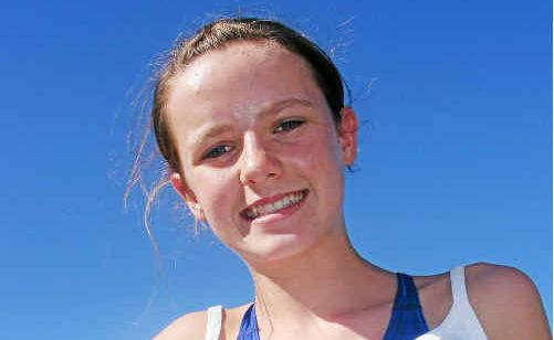 Dimity Brackin broke a freestyle record at the Warwick primary school swimming trials.
