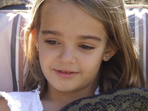 Eight-year-old Trinity Bates.