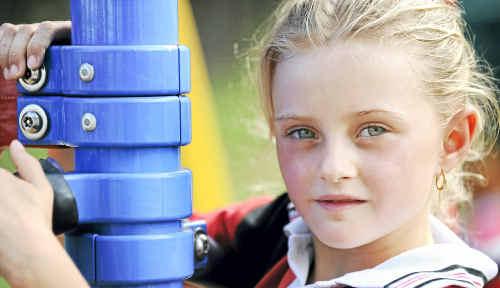 Trinity's best friend Lily McCormack at Gooburrum State School.