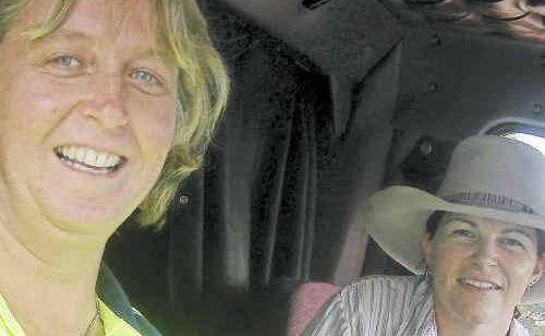 Warwick truckies Carolyn Stewart and Angela Maher.