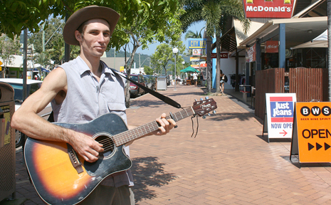 Busker Andrew Finlay has had a gutful of feeling like a criminal after twice being charged with solicit donations in a public place.