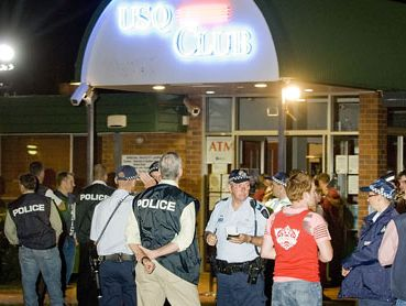 A drug raid at the USQ Club in February 2010.