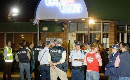 A drug raid at the USQ Club in February 2010.