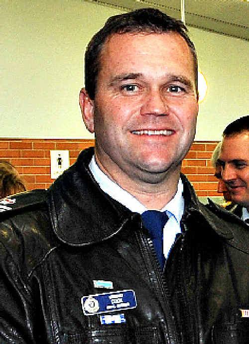 OFFICERS HIT: Supervising Sgt. Frank Cook