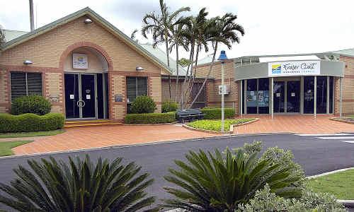 The Fraser Coast council's Hervey Bay headquarters in Tavistock Street.