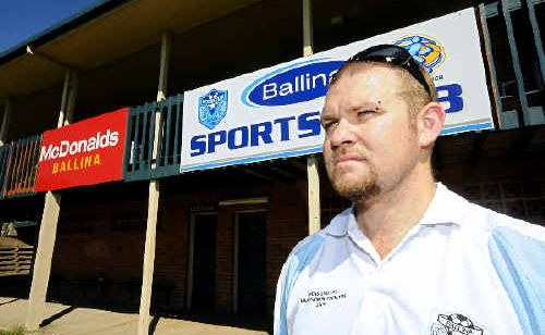 Club president Jamie Troughton is at a loss as to why anyone would bother stealing Ballina junior soccer club's sign-on banners. They'll cost $350 to replace, but are of 'no use to anyone' but the club.
