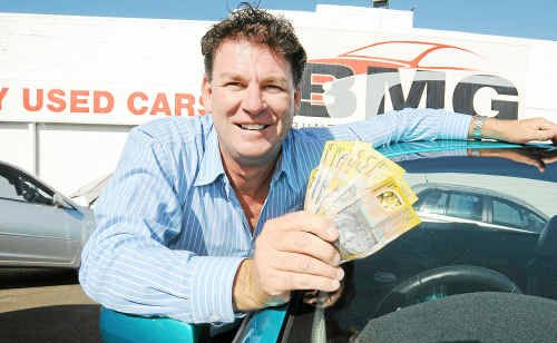Bundaberg Motor Group owner Brad Solomon is donating $10,000 plus $100 for every car he sells to rebuilding the liberty swing at the Lake Ellen Heritage Hub. Photo: Max Fleet