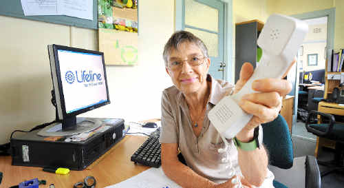 HELPING OTHERS: Lifeline North Coast spokesperson Lyn Anderson is looking for volunteers for an extremely rewarding job.