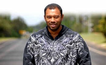 LITTLE TOWN, BIG NAME: Sunny Garcia has tried the waves at the Iluka breakwall after 25 years of travel to Australia.