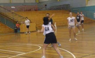 NET FUN: Netballers step on the court for fast-paced fun at the Grafton Sports Centre.