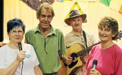 (From left) Elizabeth Drake, Dave Cowell, Paul Drake and Carolyn Pierce are excited about another great Ultra Golden Country Music Festival in Warwick.