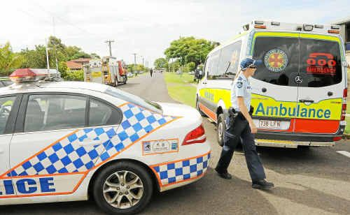 Police and other emergency services personnel flocked to Warell Street after receiving a call that a man had dowsed himself and his house in petrol.